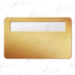 Бейдж 76х51мм с окном 60х12мм (золото глянец SU21), упаковка 10шт