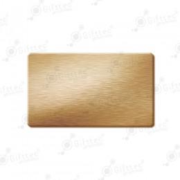Бейдж 70х40мм без окна (золото шлиф SU33), под сублимацию, упаковка 10шт