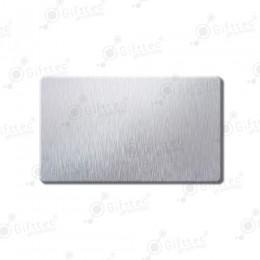 Бейдж 70х40мм без окна (серебро шлиф SU31), под сублимацию, упаковка 10шт