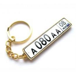 Брелок для ключей ГОСНОМЕР PREMIUM ЗОЛОТО с бортиком с прозрачной линзой (комплект для изготовления брелока) упаковка 10шт