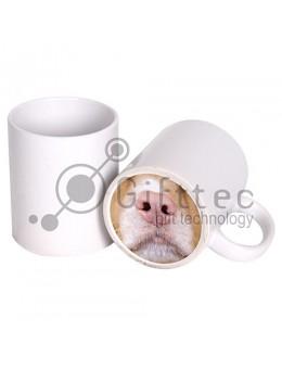 Кружка белая (Веселый нос) СОБАКА для сублимации