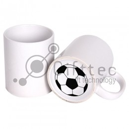 Кружка белая с печатью на дне FOOTBALL для сублимации