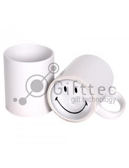 Кружка белая с печатью на дне SMILE для сублимации