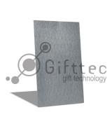 Пластина металлическая (шлифованный алюминий) 20х30см СЕРЕБРЯННАЯ для сублимации