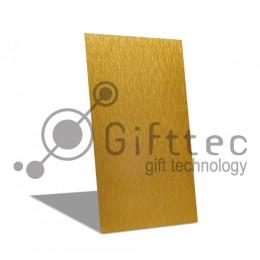 Пластина металлическая (шлифованный алюминий) 20х30см ЗОЛОТАЯ для сублимации