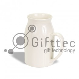 Кружка-молочник белая, 450мл для сублимации