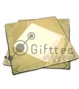 Наволочки золотые 42х42см (с квадратом под нанесение), 2шт