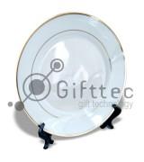 Тарелка каёмка с золотыми полосками d=26см для сублимации