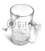 Кружка пивная стеклянная d=8.6см, h=15.7см, 300мл