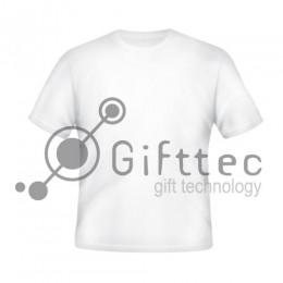 Футболка мужская белая Comfort (FutbiTex), синтетика/хлопок (имитация хлопка) р.48 (M) для сублимации