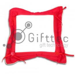 Подушка с наволочкой КРАСНАЯ (поле под сублимацию 21х21см)