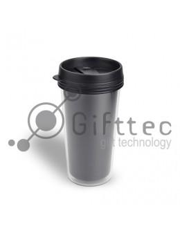 Термостакан пластиковый для полиграфической вставки, 450 мл