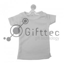 Мини-футболка сувенирная на вешалке БЕЛАЯ, синтетика/хлопок (сэндвич)