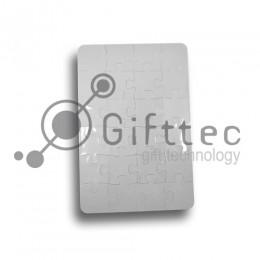 Пазл пластиковый для сублимации 12,8х19,1см (А5, 24 элемента)