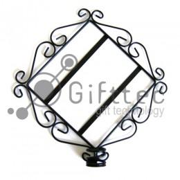 Рамка (подставка для свечи) металлическая настенная, под керамическую плитку 15.2х15.2см (плитка в комплект не входит)