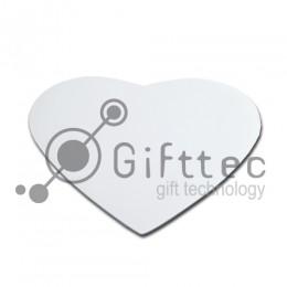 Коврик для компьютерной мыши в виде сердца 210х235х3мм для сублимации