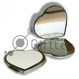 Зеркальце металлическое в виде сердца 7х6.5см для сублимации