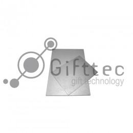 Пластина 10х15см металлическая (алюминий) 0,45мм СЕРЕБРО-МЕТАЛЛИК для сублимации