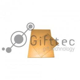 Пластина 15х20см металлическая (алюминий) 0,45мм ЗОЛОТО-МЕТАЛЛИК для сублимации