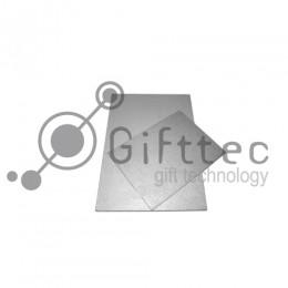 Пластина 20х30см металлическая (алюминий) 0,45мм СЕРЕБРО-МЕТАЛЛИК для сублимации