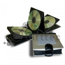 Бокс для CDDVD (10 дисков) алюминиевый, прямоугольный