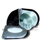 Бокс для CDDVD (12 дисков) алюминиевый, овальный для сублимации