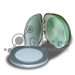 Бокс для CDDVD (6 дисков) алюминиевый, круглый