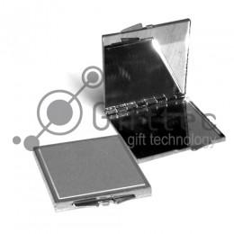 Зеркальце макияжное металлическое квадратное 60х65мм (зона под нанесение 55х55мм) для сублимации