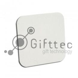 Магнит на холодильник квадрат с закругленными углами 9.5х9.5см (упаковка 5шт) для сублимации