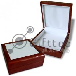 Коробка подарочная деревянная с плиткой 10.8х10.8см