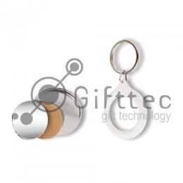 Заготовка брелок-зеркальце d=44мм (50шт)