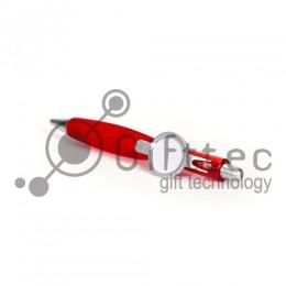 Ручка шариковая пластиковая КРАСНАЯ со вставкой под сублимацию