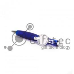 Ручка шариковая пластиковая СИНЯЯ со вставкой под сублимацию