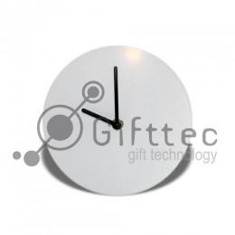Часы настенные стеклянные d=20см для сублимации