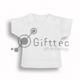 Мини-футболка сувенирная БЕЛАЯ, синтетика (прима) для сублимации