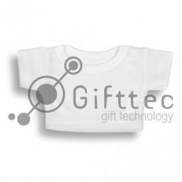 Мини-футболка на мягкую игрушку БЕЛАЯ, синтетика (ложная сетка) для сублимации