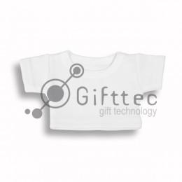 Мини-футболка на мягкую игрушку БЕЛАЯ, синтетика/хлопок (джерси) для сублимации