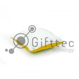 Подушка с наволочкой ЗОЛОТАЯ (поле под сублимацию 25х25см)