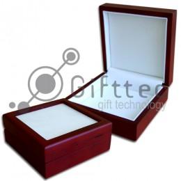 Шкатулка подарочная деревянная для плитки 10.8х10.8см (плитка в комплект не входит)