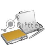 Металлический ежедневник с ручкой (с возможностью смены бумажных блоков) 06 для сублимации