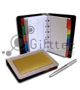 Ежедневник металлический (вставка под сублимацию 65х115мм) под сменные блоки (01)
