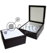 Шкатулка подарочная деревянная для плитки 15.2х15.2см (плитка в комплект не входит)