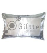 Подушка с наволочкой 60х40см СЕРАЯ (поле под сублимацию 42х24см)