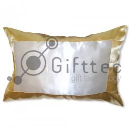 Подушка с наволочкой 60х40см ЗОЛОТАЯ (поле под сублимацию 42х24см)