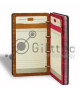 Ежедневник на кольцах с деревянной обложкой (зона под нанесение 9.5х16см)