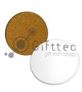 Костер деревянный круглый 95х95х3мм (с пробковой основой) для сублимации