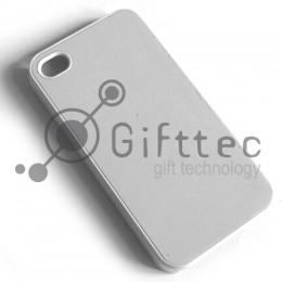 IPhone 4/4S - Белый чехол пластиковый (вставка под сублимацию)