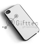 IPhone 4/4S - Черный чехол пластиковый (вставка под сублимацию)