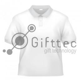 Рубашка-поло белая Comfort (FutbiTex), синтетика/хлопок (имитация хлопка) р.46 (S) для сублимации