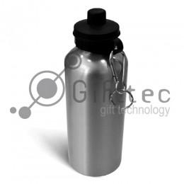 Фляжка алюминиевая с крышкой для питья СЕРЕБРО, 600мл для сублимации